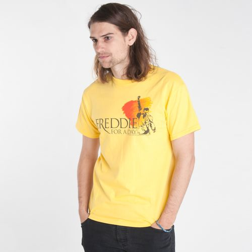 Freddie For A Day: Freddie For A Day Logo Yellow T-Shirt - Small