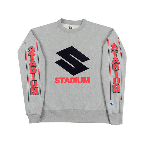 Justin Bieber: Stadium S Heather Gray Crew Neck