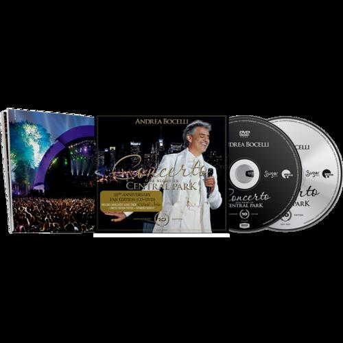 Andrea Bocelli: Concerto: One Night In Central Park - 10th Anniversary Fan Edition CD, DVD + Poster