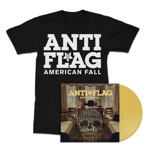 Anti-Flag: American Fall Gold Vinyl & T-Shirt Bundle