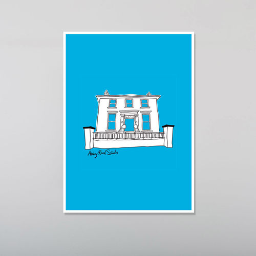 Abbey Road Studios: Abbey Road House Poster Blue
