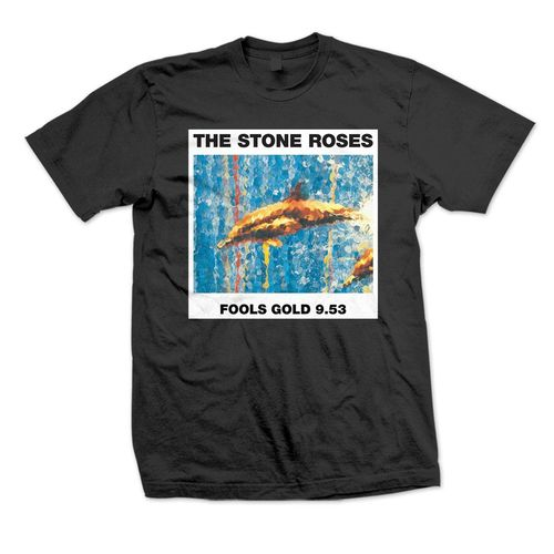 The Stone Roses: Fools Gold 9.53 Black T-Shirt