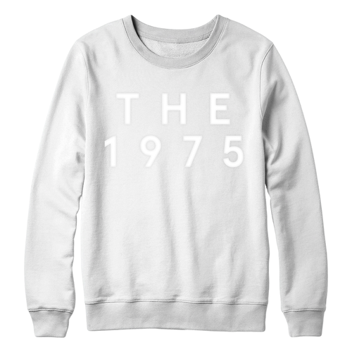 The 1975: White on White Pop Up Crewneck