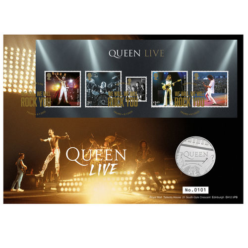 Queen: Queen Live Limited Edition Silver Proof Coin Cover