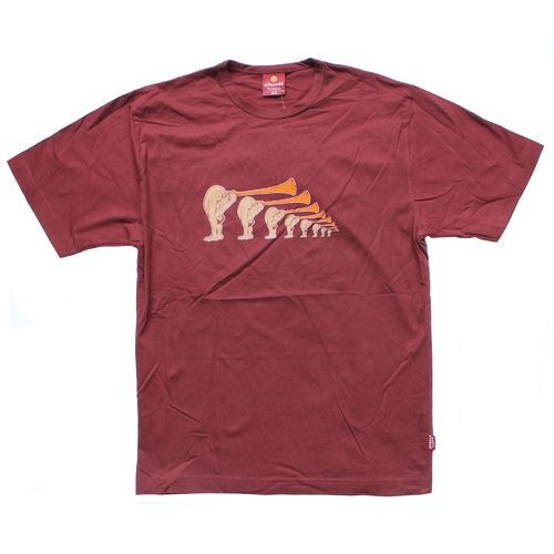 Monty Python: Blowing Your Trumpet Burgundy T-Shirt - Small