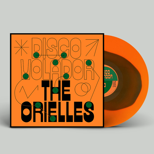 The Orielles: Disco Volador: Limited Edition Orange Vinyl with Green Blob