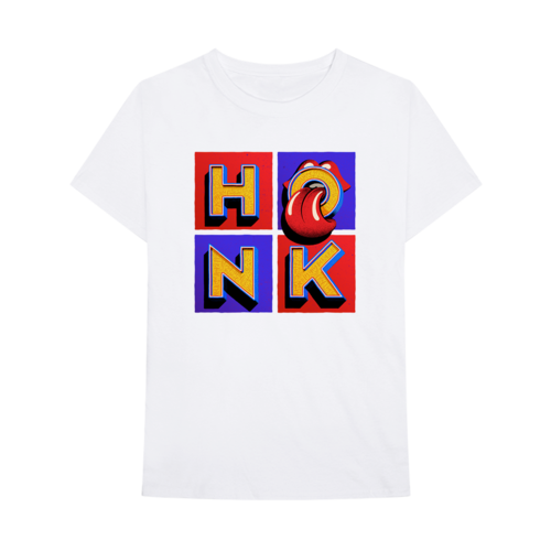 The Rolling Stones: Honk White Album T-Shirt - M