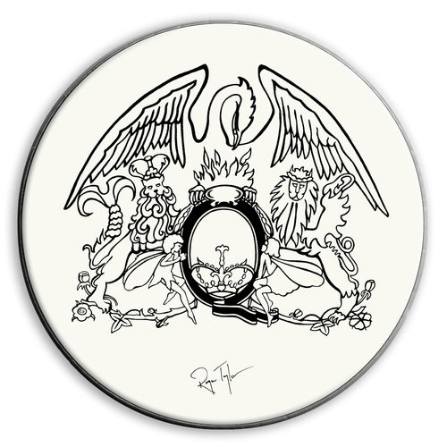 Roger Taylor: Roger Taylor Sheer Heart Attack 1974 Replica Drum Skin