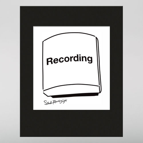 Abbey Road Studios: Abbey Road Recording Light Line Drawing