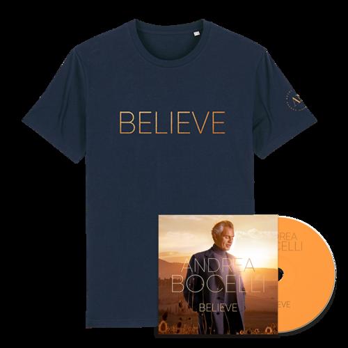 Andrea Bocelli: Believe CD & T-shirt Bundle