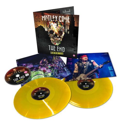 Motley Crue: The End Live In Los Angeles: Limited Edition Double Yellow Gatefold Vinyl