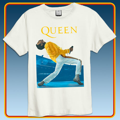 Queen: Queen Freddie Wembley Vintage Amplified Tee