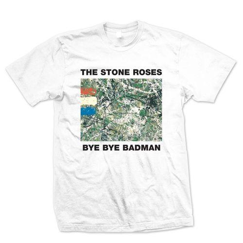The Stone Roses: Bye Bye Badman White T-Shirt