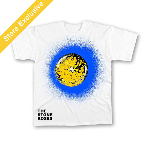 The Stone Roses: Blue Spray Lemon T-Shirt