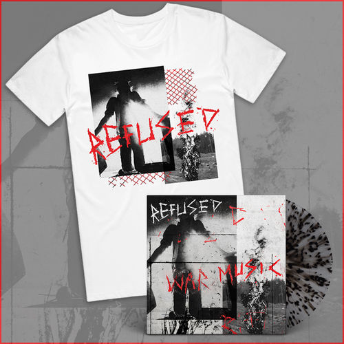 Refused: Vinyl & White T-Shirt Bundle