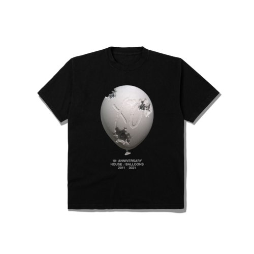 The Weeknd: DANIEL ARSHAM X THE WEEKND HOUSE OF BALLOONS ERODED BALLOON TEE
