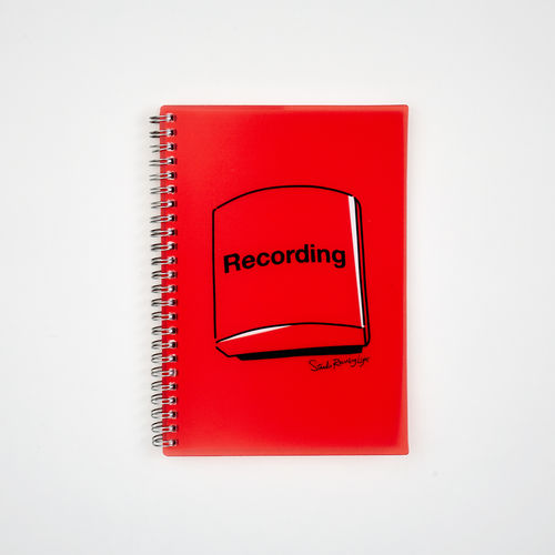 Abbey Road Studios: A5 Wiro Notebook - Red Recording Light