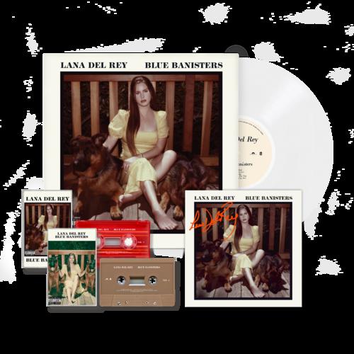 Lana Del Rey: BLUE BANISTERS WHITE VINYL + CASSETTE BUNDLE (SIGNED)