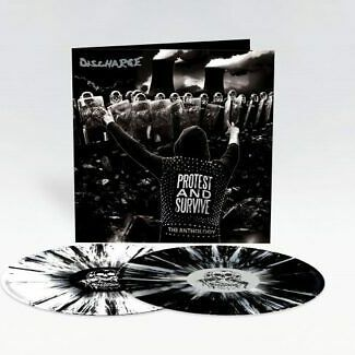 Discharge: Protest And Survive – The Anthology: Limited Edition White & Black Splatter Vinyl
