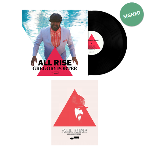 Gregory Porter: ALL RISE Signed Double LP & Print Bundle