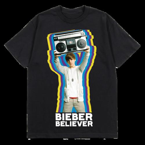 Justin Bieber: BIEBER BELIEVER BOOMBOX T-SHIRT