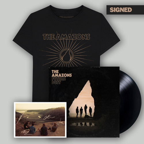 The Amazons: Deluxe Vinyl, T-Shirt & Signed Postcard