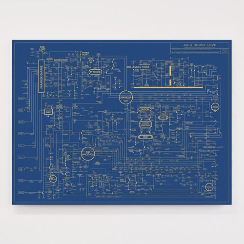 Dorothy: Acid House Love Blueprint - A History of Dance Music Screen Print Poster