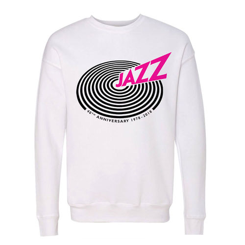 Queen: 'Jazz' 40th Anniversary Unisex White Sweatshirt