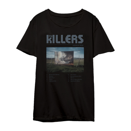 The Killers: ITM Tracklist Tee Black