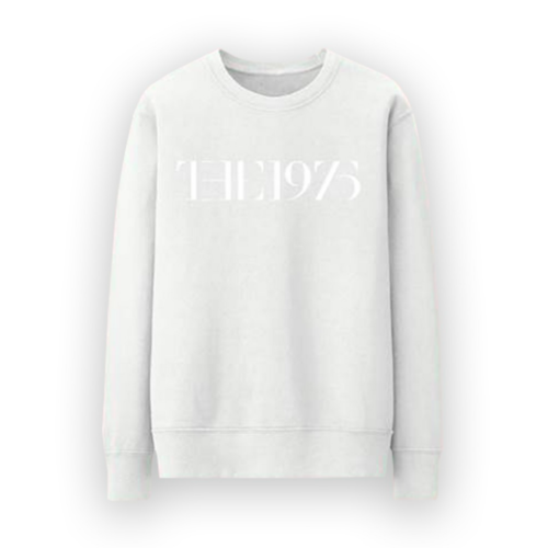 The 1975: The 1975 - Embroidered Logo White Large Sweater