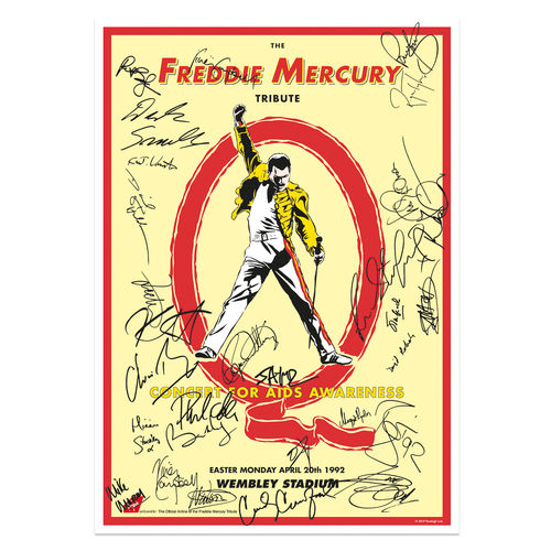 Freddie For A Day: The Freddie Mercury Tribute Concert Reproduction A2 Poster