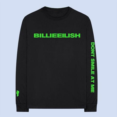 Billie Eilish: Don't Smile At Me Black Longsleeve