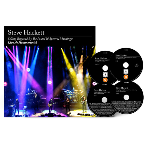 Steve Hackett: Selling England By The Pound & Spectral Mornings, Live At Hammersmith: Limited Deluxe 2CD + Blu-Ray + DVD Artbook + Signed 10x10