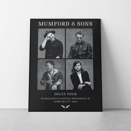 Mumford & Sons : N. America Delta Portrait Print 2019