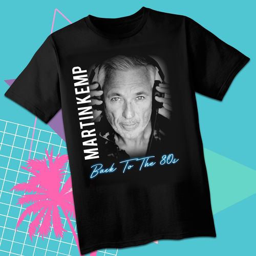 Martin Kemp: Back To The 80's Blue Logo