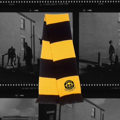 The Lathums: The Lathums x Wigan Athletic: Black + Yellow Scarf, Exclusive Black Vinyl + CD