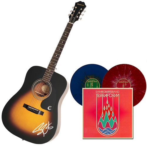 Sam Roberts Band: Autographed Guitar + TerraForm Splatter 2LP