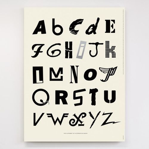 Dorothy: Alphabet of Alternative Music Screen Print Poster