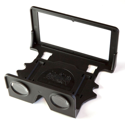 London Stereoscopic Company: OWL Stereobetrachter (schwarz) + Kartenetui mit Anleitung