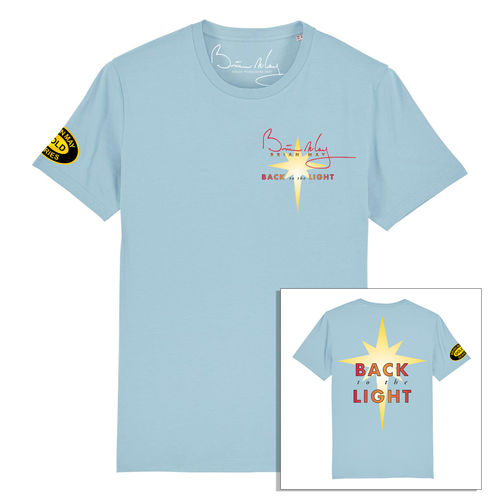 Brian May: Back To The Light Front and Back Print Sky Blue