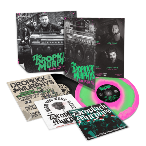 Dropkick Murphys: Turn Up That Dial: Deluxe Pink + Green Swirl Vinyl, 7