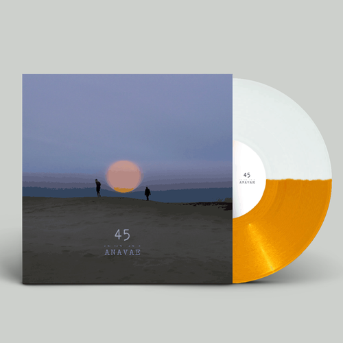 ANAVAE: 45: Orange + White Split Vinyl
