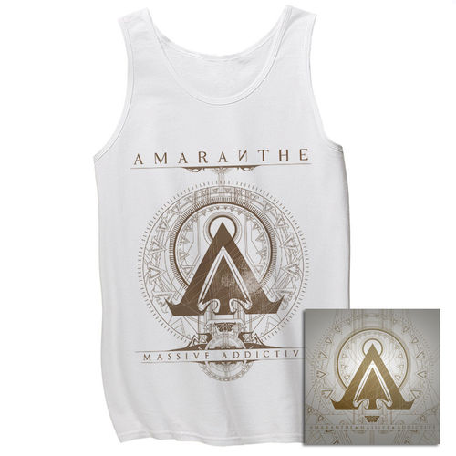 Amaranthe: Massive Addictive White Tank & CD Bundle