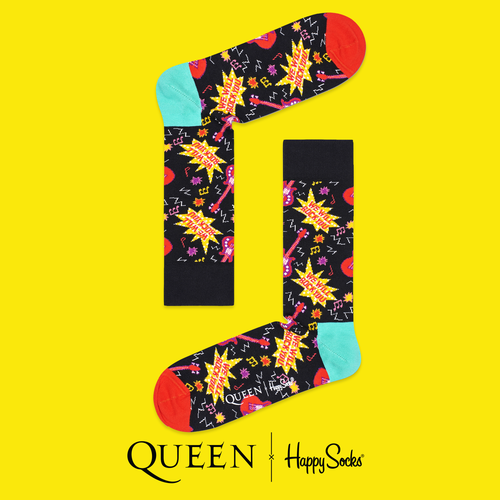 Queen: We Will Rock You Happy Socks