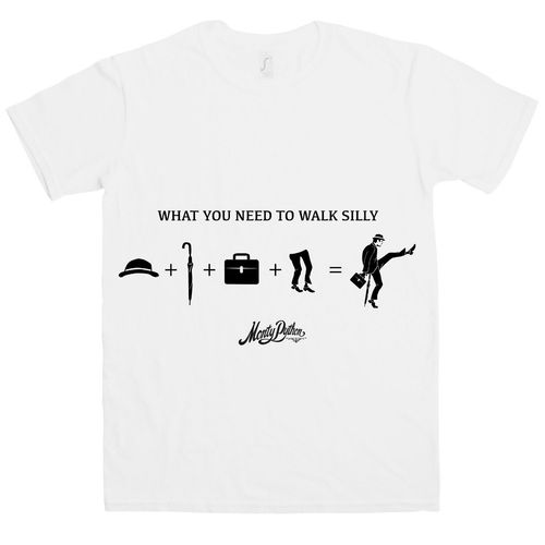 Monty Python: What You Need To Walk Silly White T-Shirt - Small