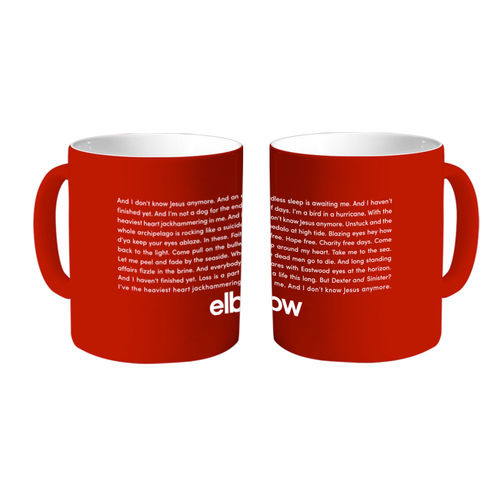 Elbow: Dexter & Sinister Lyric Red Mug