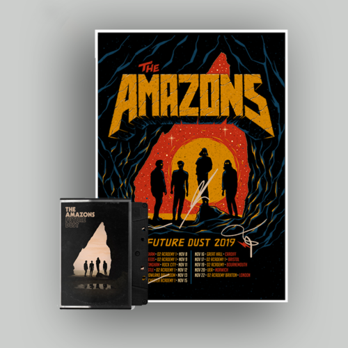 The Amazons: Cassette & Signed Tour Poster