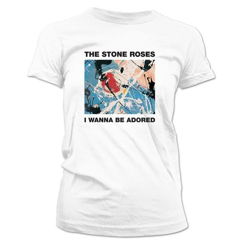 The Stone Roses: I Wanna Be Adored Womens White T-Shirt