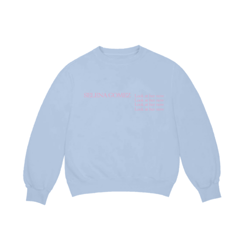 Selena Gomez : Look At Her Now Blue Crewneck