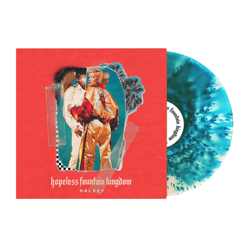 Halsey: hopeless fountain kingdom: clear vinyl with teal splatter